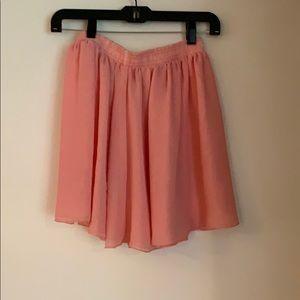 American Apparel pink mini skirt